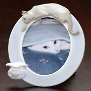 Roman Club Pack Of 12 Porcelain Siamese Cat And Fish 4 X 6 Photo Frames