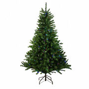Northlight 10and039 Canadian Pine Artificial Christmas Tree - Multi Led Lights