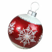 Northlight 26.5� Led Red Ball Christmas Ornament Snowflake Outdoor Decoration