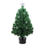 Northlight 4and039 Pre-lit Fiber Optic Artificial Christmas Tree With Stars