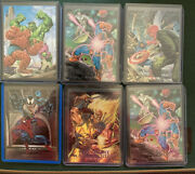 1992 Marvel Masterpieces Full Set With All Holographic Inserts - Read Descr...