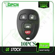 10 New Keyless Entry Remote Key Fob Shell Case 4-button Pad For 2006 Chevrolet
