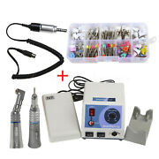 Dental Lab Marathon Micromotor N7/contra Straight Handpiece/100brushes Cups Dr.