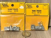 N Scale Wheel Works Tank Truck 96-134 And Dump Truck 96-126 Kits - Pewter