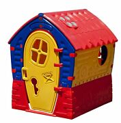 Yellow Play Dream Playhouse Primary Material Plastic Outside Locking Resistant