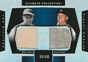 2003 Ultimate Collection Ted Williams/mickey Mantle Dual Jersey /50 Hof