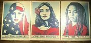 Shepard Fairey We The People Art Print Poster Set Of 3 Prints 18x24 Obey Giant