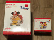 Disney Cookie Jar Mickey Mouse Firefighter Pluto Salt And Pepper Shaker New Box