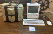 Vintage Apple Macintosh Plus 1mb Computer M0001a W/keyboard Mouse M0100 And Bag