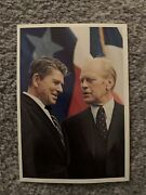 Ronald Reagan / Gerald Ford Front Of Ford Presidential Museum Grand Rapids 1981