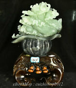 15 China Natural Xiu Jade Carving Feng Shui Cabbage Wealth Luck Sculpture