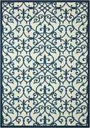 Nourison 10and039 X 13and039 Home And Garden Blue Indoor/outdoor Rectangle Area Rug