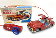 Antique Japanese Tin Toys 1950 Japan Electric Mercedes-benz 300 Sl Galwing Y
