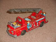 Old Tin Fire Engine Ladder Car American Cars Nomuratoy