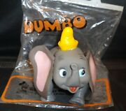 Vintage 1970s Disney Dumbo Vinyl Figure W/ Bag And Tag By7 R. Dakin And Co