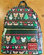 Disney Parks Loungefly Christmas Holiday Snacks Food Icons Backpack 2019 Nwt