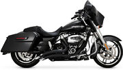Black Big Radius 2-2 Full Exhaust Vance And Hines 46073 For 17-21 Hd Touring