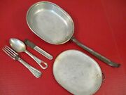 Wwi Us Army M1910 Mess Kit Complete W/utinsels Knife Spoon And Fork - Dtd 1918 2
