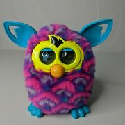 Furby Boom Interactive Plush Toy Pink Blue Hearts Talking 2012 Tested Working