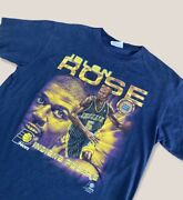 Vintage 90s Indiana Pacers Jalen Rose Navy Blue T Shirt By Csa Size Xl