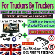 7 Truck Sat Nav Advanced Edition Updated 2021 Europe Maps Lorry Hgv Pois Laybys