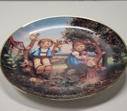 Hummel Apple Tree Boy And Girl Plate Authenticity Paperwork Included