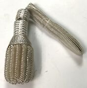 Civil War Us Union Csa Confederate Officer Sword Knot-silver