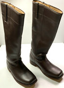 Indian Wars Us Union M1872 Cavalry Horse Riding Brown Leather Boots-size 12