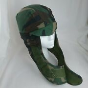 Cap Cold Winter Weather Insulated Helmet Liner Woodland Camouflage Size 7