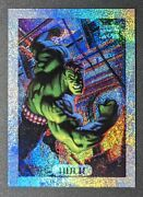 1994 Fleer Marvel Masterpieces Holofoil Silver Hulk 4 Mint Condition Low Pop