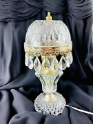 Vintage Michelotti Glass Crystal Prism Boudoir Table Lamp Made In Holland 10