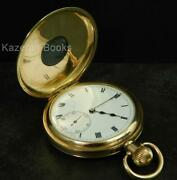 Antique Selezi Gold Plated Half Hunter Fob Pocket Watch By Dfandc C1920