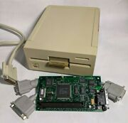 Vintage Recapped Mac Lc Pds Apple Iie Card, Y-cable And 5 1/4 Apple Unidisk Drive