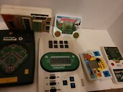 Lot Of 6 Hand Held Vintage Electronic Games Football Pin Ball Golf And More