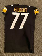2018 Marcus Gilbert Pittsburgh Steelers Game Used Jersey Nice Use Team Source