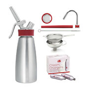 Isi Gourmet Whip 1 Pint With Comb0 Funnel Infusion Tool And Chargers 10-pack