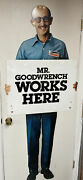Vintage Mr Goodwrench Works Here Metal Stand-up General Motors Advertising Sign