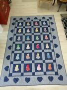 Sunbonnet Sue All Hand Sewn By Renowned Helen Thompson 1997 Quilt Blanket 70x98