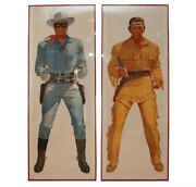 Pristine Lone Ranger And Tonto Vintage Life-sized Framed Posters 31 X 81