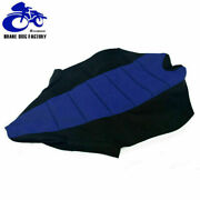 For Yamaha Atv Gripped Gripper Ribbed Soft Seat Cover Yfz450r 09-11 Black + Blue