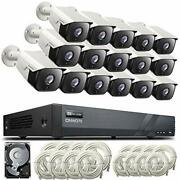 Onwote 16 Channel Poe Ip Security Camera System 4tb, 5mp 2592x1944p, Power-over-