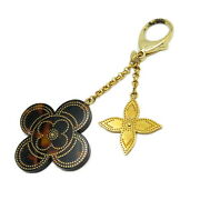 Louis Vuitton Stippley Bag Charm M66971 Plastic Gold Plated Brown Used