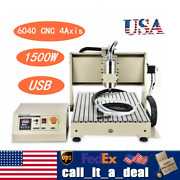 4 Axis Usb 1.5kw Cnc 6040t Router Engraver Pcb Pvc Wood Drilling Milling Machine