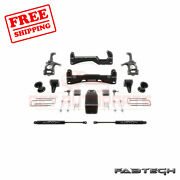 Fabtech 6 Basic Syst W/ Front Coilover And Rear Shocks For Ford F150 4wd 2015-17