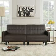 Futon Sofa Bed Couch And Sleeper Sofas Faux Leather Loveseat For Living Room