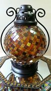 🌿 Partylite Mosaic Stained Glass Global Fusion 14 Moroccan Candle Lantern