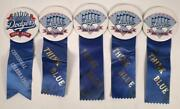 5 1988-90 Baseball Los Angeles Dodger World Series Champions Pins Coin Button