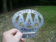 Original 1930and039s Vintage Aaa Us States America License Plate Topper Ford Gm Chevy