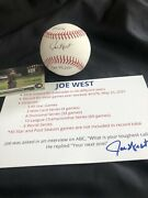 Joe West Record Baseball Most Games Umpired Game Ball Signed 5376 +topps Card