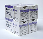 3/0 Pga Surgical Suture Veterinary Dental Polyglycolic Acid 24mm 48ct 4 Boxes